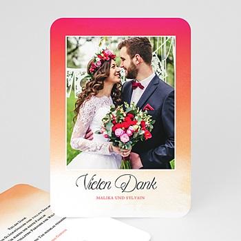 Dankeskarten Hochzeit mit Foto - Bunt & knallig - 0