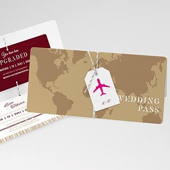 Hochzeitskarten Reisen - Wedding Pass - 0