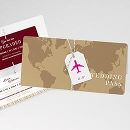 Hochzeitskarten Reisen Wedding Pass
