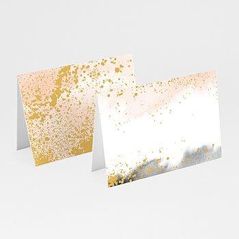 Tischkarten Hochzeit - Aquarell trifft Gold - 0