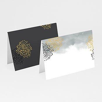 Tischkarten Hochzeit - Tusche & Punkte - 0