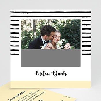 Kreative Dankeskarten Hochzeit  - Streifen & Gelb - 0