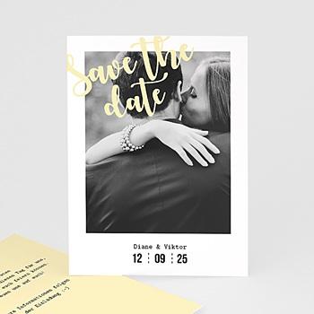Save The Date  - Streifen & Gelb - 0