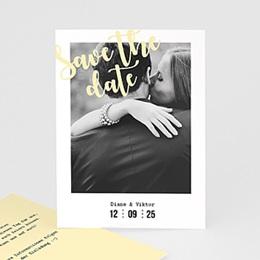 Save The Date  Streifen & Gelb