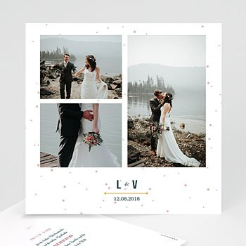 Dankeskarten Hochzeit mit Foto - Konstellation - 0