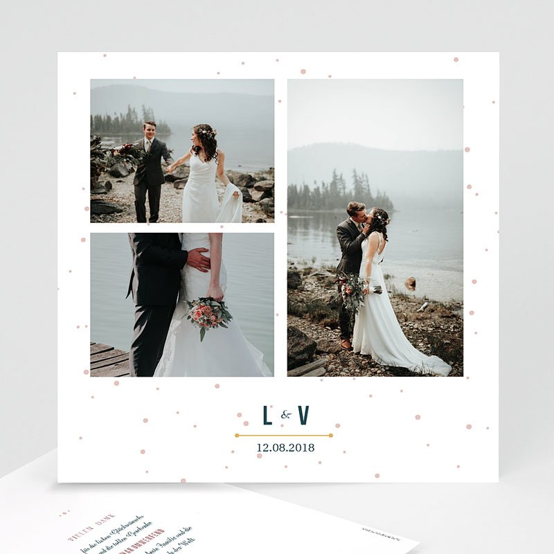 Dankeskarten Hochzeit mit Foto - Konstellation 60397 thumb