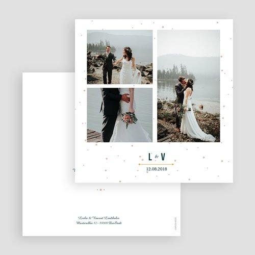 Dankeskarten Hochzeit mit Foto - Konstellation 60399 thumb
