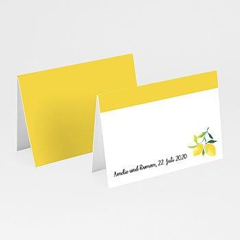 Tischkarten Hochzeit - Citrusfarben - 0