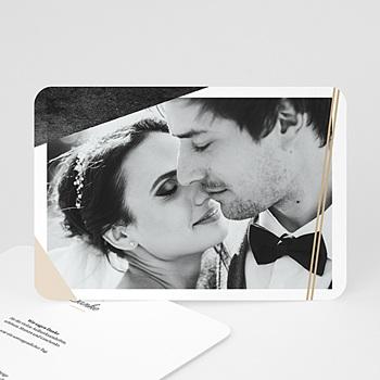 Dankeskarten Hochzeit mit Foto - Metropolitan - 0
