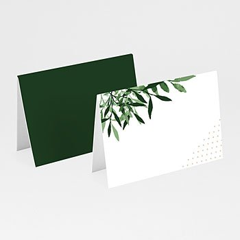 Tischkarten Hochzeit - Botanisches Grün - 0