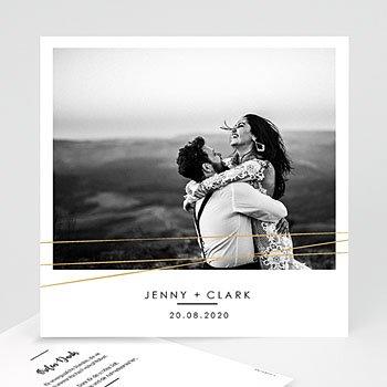 Dankeskarten Hochzeit mit Foto - Minimaliste Chic - 0