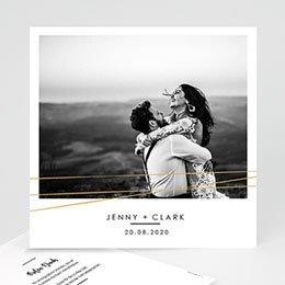 Danksagungskarten Hochzeit Minimaliste Chic