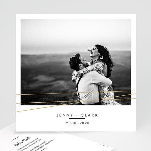 Dankeskarten Hochzeit mit Foto - Minimaliste Chic 60473 thumb