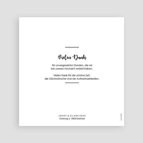 Dankeskarten Hochzeit mit Foto - Minimaliste Chic 60474 thumb