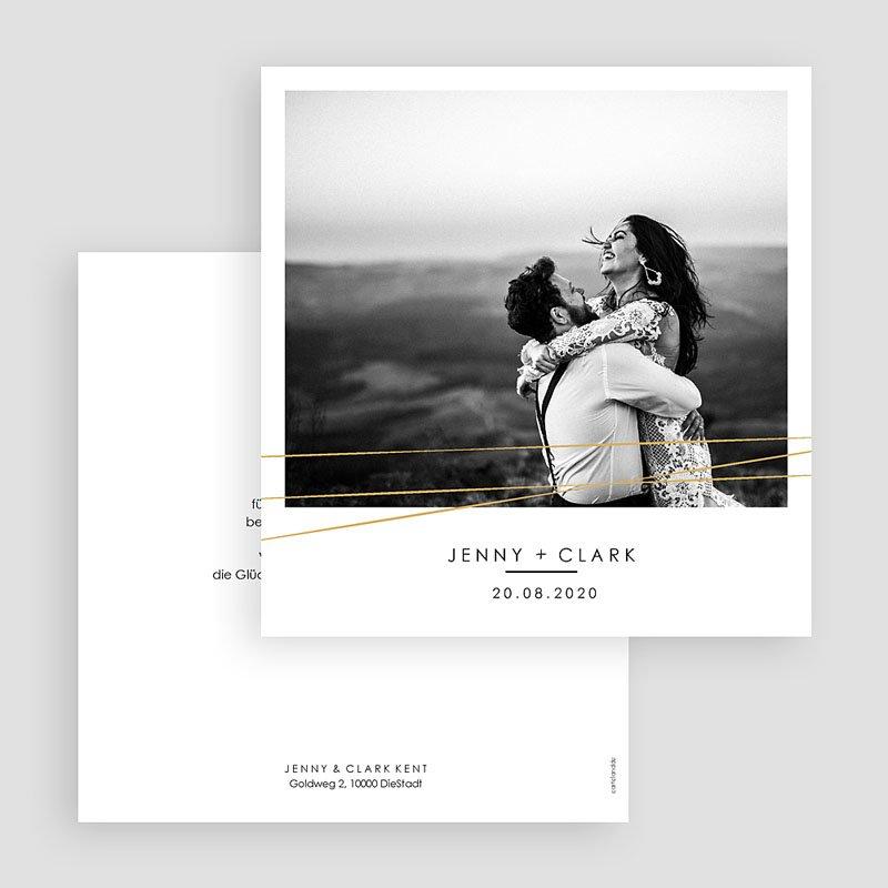 Dankeskarten Hochzeit mit Foto - Minimaliste Chic 60475 thumb