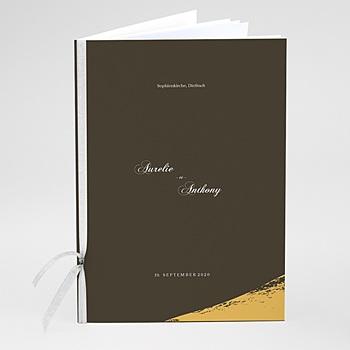 Kirchenheft zur Hochzeit individuell gestalten - Brush Gold - 0