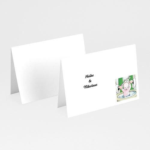 Tischkarten Taufe - Taufbecken 6051