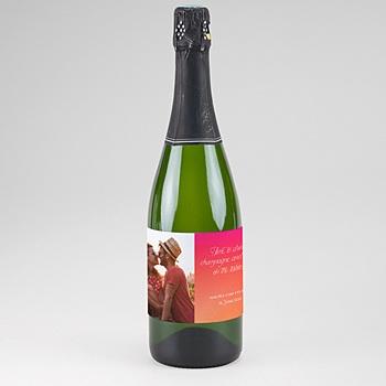 Flaschenetiketten Hochzeit Bunt & knallig