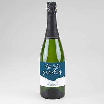 Flaschenetiketten Hochzeit - Gold & Aquarell - 0