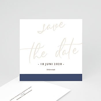 Save The Date  - Blue Color Touch - 0