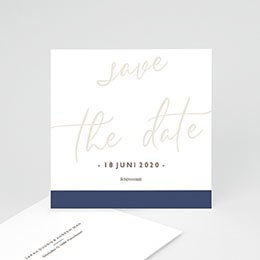 Save The Date  Blue Color Touch