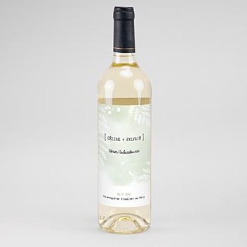 Flaschenetiketten Hochzeit - Farngrün - 0