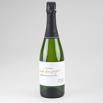Flaschenetiketten Hochzeit Gold & Bordeaux