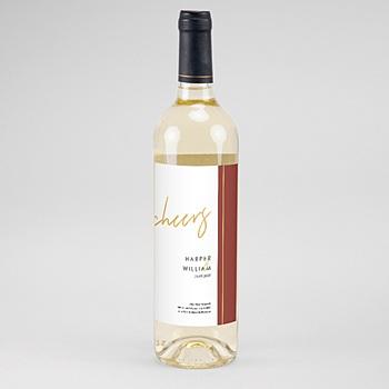 Flaschenetiketten Hochzeit - Gold & Bordeaux - 0