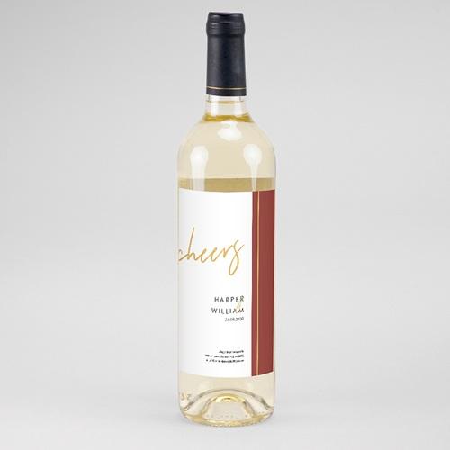 Flaschenetiketten Hochzeit - Gold & Bordeaux 60638 thumb