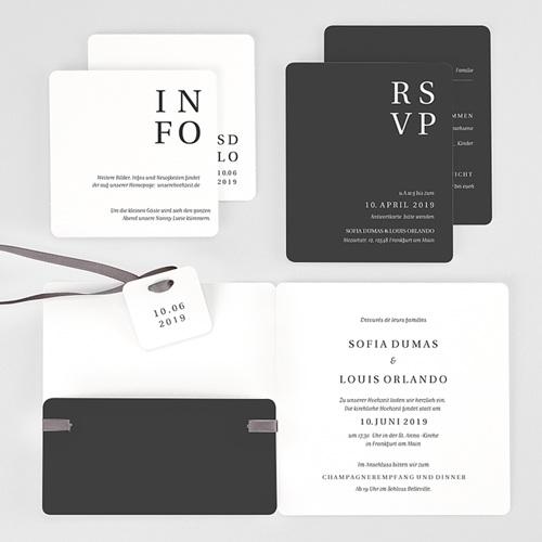 Hochzeitseinladungen Typografisch und Form gratuit