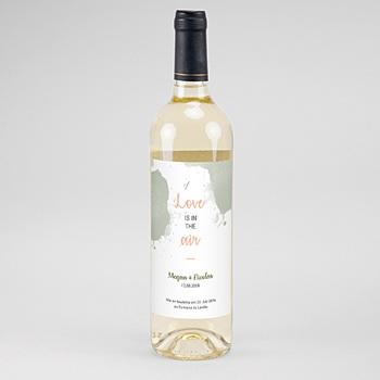 Flaschenetiketten Hochzeit - Boho Natur - 0