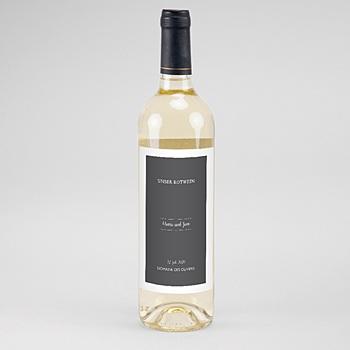 Flaschenetiketten Hochzeit - Tusche & Punkte - 0