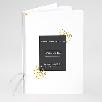 Kirchenheft zur Hochzeit individuell gestalten - Tusche & Punkte - 0