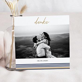 Dankeskarte Hochzeit Reisen - Streifen - 0