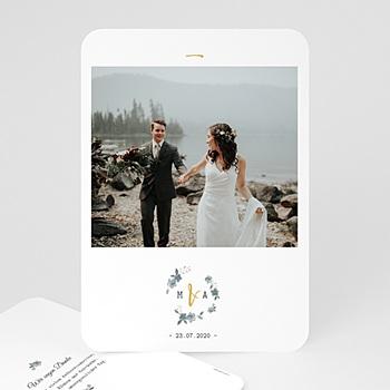 Klassische Dankeskarten Hochzeit  - Botanisches Blau - 0