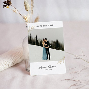 Stilvolle Danksagung Hochzeit - Nature Inspired - 0