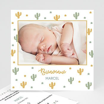 Geburtskarten für Jungen - Cactusland - 0