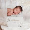 Geburtskarten für Jungen Aquarelle Feder