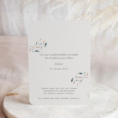 Geburtskarten für Jungen Aquarelle Feder  pas cher