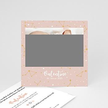 Geburtskarten für Mädchen - Voûte Céleste rose - 0