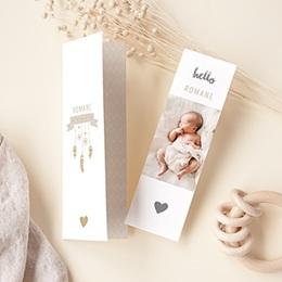 Geburtskarten für Mädchen Dreamcatcher Gold