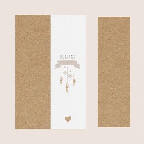 Geburtskarten für Mädchen Dreamcatcher Gold pas cher