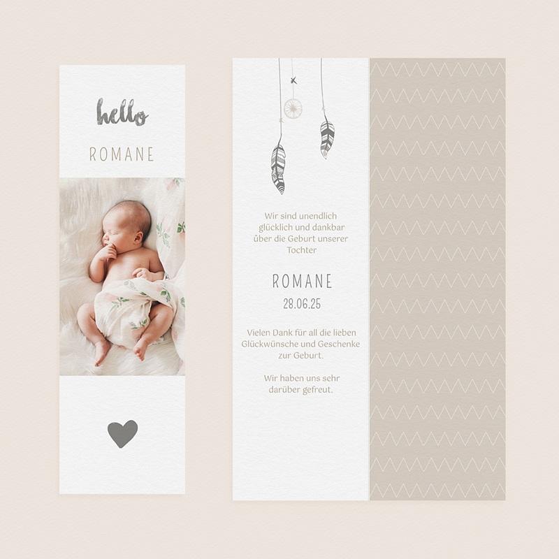 Geburtskarten für Mädchen Dreamcatcher Gold gratuit