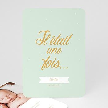 Geburtskarten für Jungen - Il était un ... petit garçon - 0
