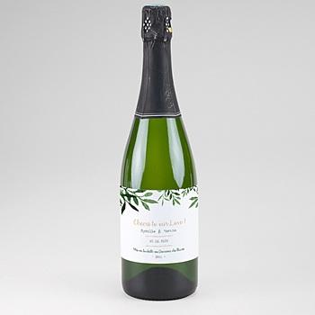 Flaschenetiketten Hochzeit - Botanisches Grün - 0