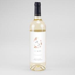 Flaschenetiketten Hochzeit Wildrose