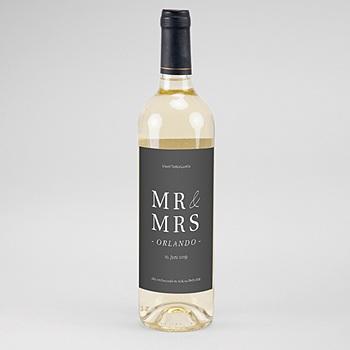 Flaschenetiketten Hochzeit - Typografisch und Form - 0