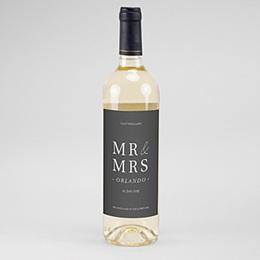 Flaschenetiketten Hochzeit Typografisch und Form