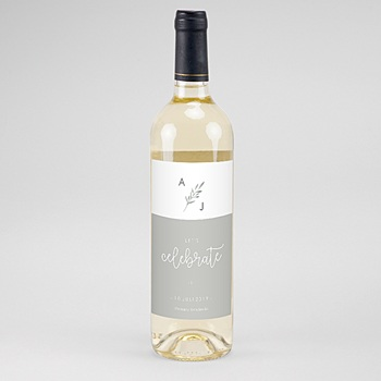 Flaschenetiketten Hochzeit - Olivenzweige Aquarell - 0