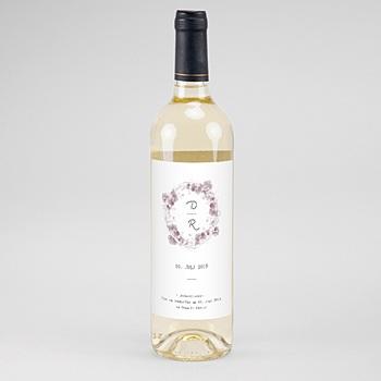 Flaschenetiketten Hochzeit - Vintage Chic Rose - 0